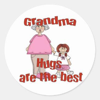 abuela pegatina redonda