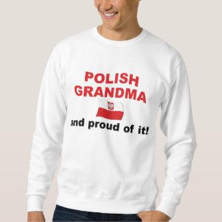 Abuela polaca orgullosa sudadera