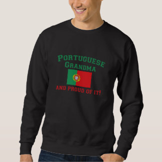 Abuela portuguesa orgullosa sudaderas encapuchadas