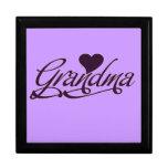 Abuela púrpura cajas de regalo