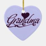 Abuela púrpura ornamento de reyes magos