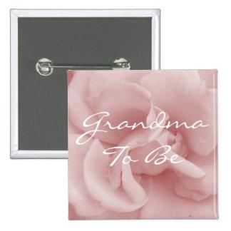Abuela rosada a ser Pin del pétalo color de rosa Pin Cuadrada 5 Cm