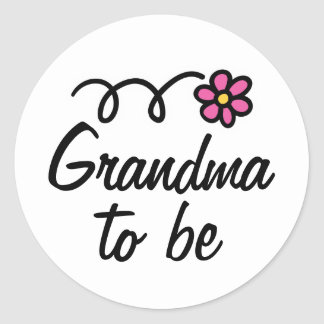 Abuela rosada de la flor de la margarita a ser etiquetas redondas
