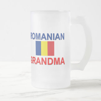 Abuela rumana jarra de cerveza esmerilada