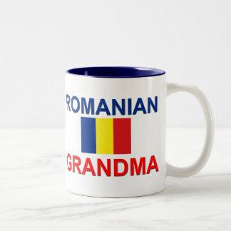 Abuela rumana taza de café de dos colores