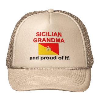Abuela siciliana orgullosa gorras de camionero