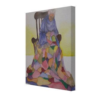 Abuela Smith y lona de pintura de la acuarela del Impresion En Lona