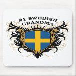 Abuela sueca del número uno alfombrilla de raton