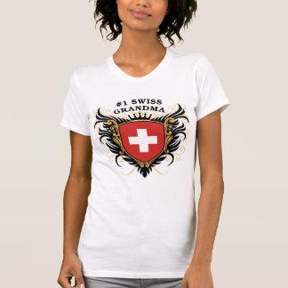 Abuela suiza del número uno camisetas