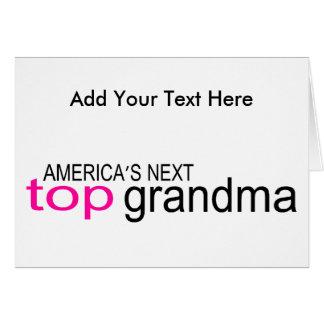 Abuela superior siguiente de Américas Tarjeta De Felicitación