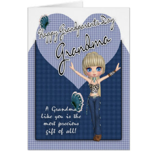 Abuela, tarjeta del día de los abuelos - pequeño W