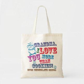 ¡Abuela te amo más que las galletas! Bolsa Tela Barata