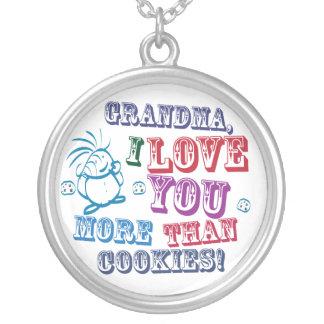 ¡Abuela te amo más que las galletas! Colgante Redondo