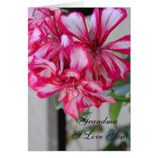 Abuela te amo tarjeta de felicitación