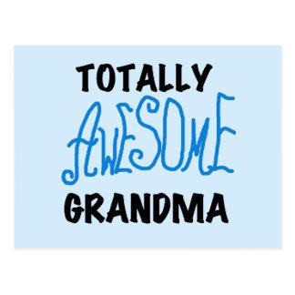 Abuela totalmente impresionante - camisetas y postal