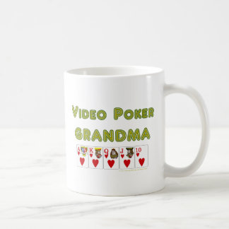 abuela video del póker con un real taza clásica