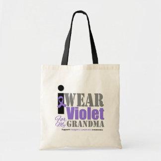 Abuela violeta de la cinta - el linfoma de Hodgkin Bolsas De Mano
