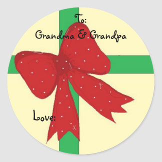 Abuela y abuelo pegatina redonda