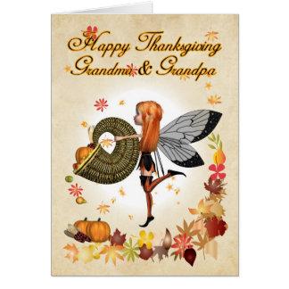 Abuela y abuelo - tarjeta de la acción de gracias
