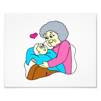 Abuela y bebé grahpic arte fotografico