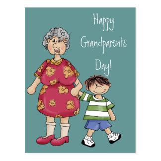 Abuela y nieto (diseños del abuelo) tarjetas postales