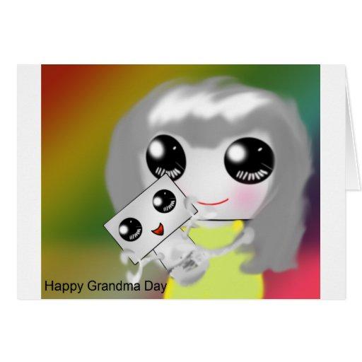 Abuela y niño tarjeta de felicitación