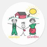 Abuela y yo del abuelo pegatina redonda