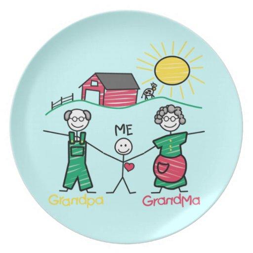 Abuela y yo del abuelo plato de comida