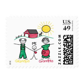 Abuela y yo del abuelo timbres postales