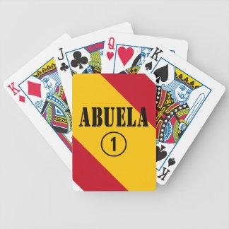 Abuelas españolas: Uno de Abuela Numero Baraja Cartas De Poker