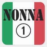 Abuelas italianas: Uno de Nonna Numero Pegatina Cuadrada