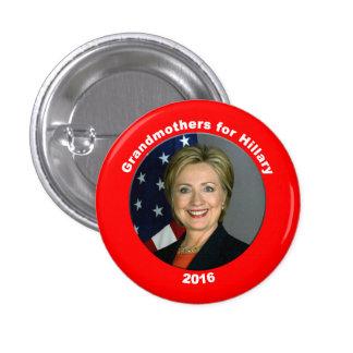 Abuelas para Hillary Pin Redondo De 1 Pulgada