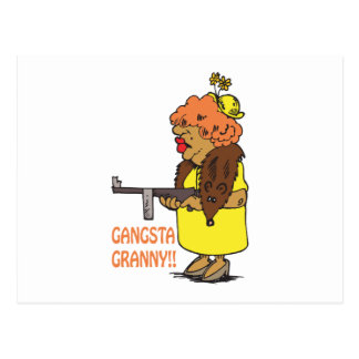 Abuelita de Gangsta Tarjetas Postales