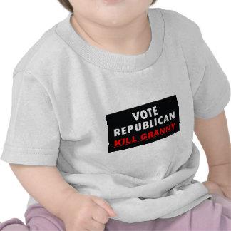 Abuelita de la matanza - republicano del voto camiseta