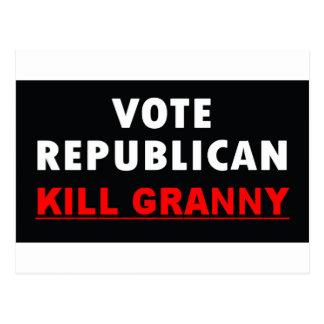Abuelita de la matanza - republicano del voto postal