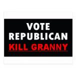 Abuelita de la matanza - republicano del voto postales