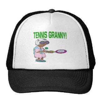 Abuelita del tenis gorras