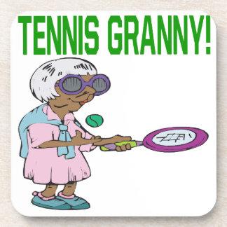 Abuelita del tenis posavasos