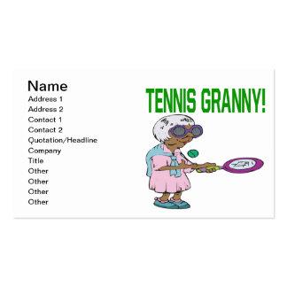 Abuelita del tenis tarjetas de visita