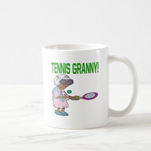 Abuelita del tenis taza