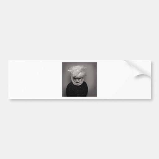 abuelita tranny etiqueta de parachoque