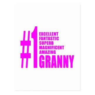 Abuelitas modernas rosadas: Abuelita del número Tarjeta Postal