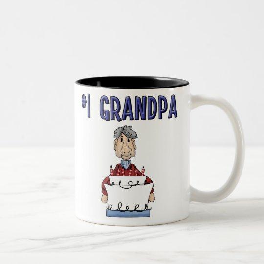 Abuelo #1 (cumpleaños) taza de café de dos colores