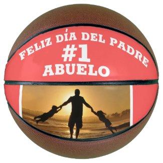 Abuelo #1 Feliz Dia Del Padre Custom Photo Basketball