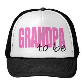 Abuelo a ser (fuente rosada del bloque) gorra