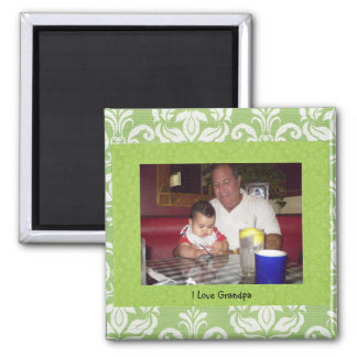 """Abuelo: """"Amo imán del marco de la foto del abuelo"""""""