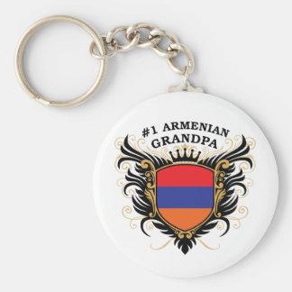 Abuelo armenio del número uno llavero personalizado