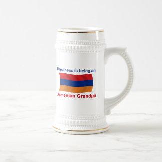 Abuelo armenio feliz tazas de café