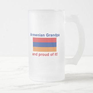 Abuelo armenio orgulloso taza de cristal