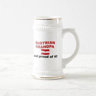 Abuelo austríaco orgulloso tazas de café